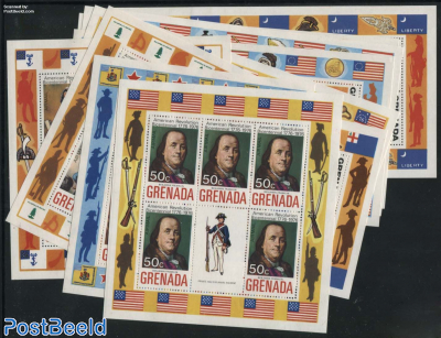 US Bicentenary 10 minisheets