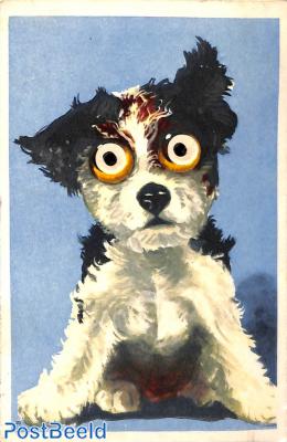Dog with moving eyes