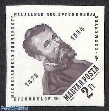 Michelangelo 1v imperforated