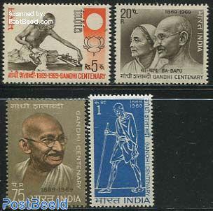 Gandhi birth centenary 4v