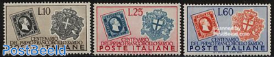 Sardinia stamp exposition 3v