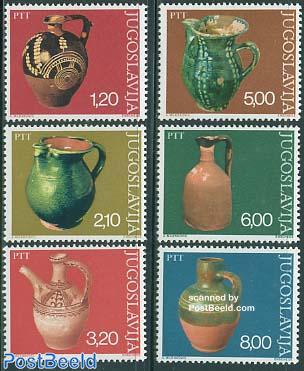 Antique pottery 6v