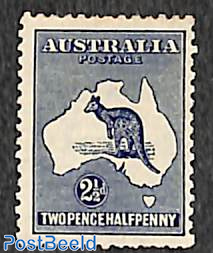 2.5p, WM A-thin crown, Stamp out of set