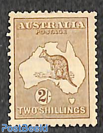 2Sh, WM A-thin crown, Brown, Stamp out of set