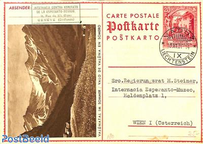 Illustrated postcard, Valünatal im Sommer