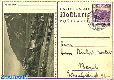 Illustrated Postcard Dorf Eschen