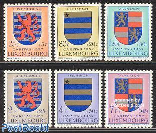 Caritas, coat of arms 6v