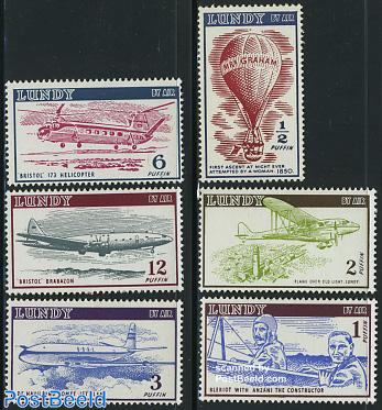 Lundy, Airmail 6v, without date
