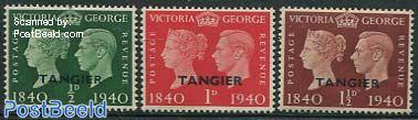 TANGIER, Stamp Centenary 3v