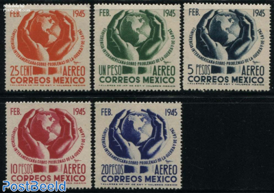 Interamerican conference 5v, Only airmails