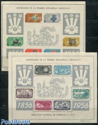 Stamp centenary 2 s/s