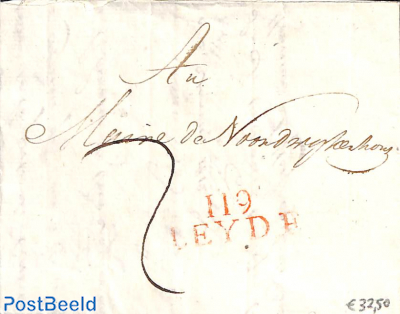 Folding cover to Leiden, see mark