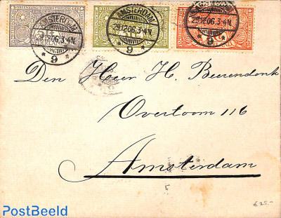 Letter with TBC issue 29-12-06, brown spots on stamps