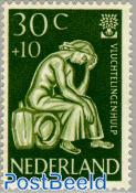 30+10c, refugees, Stamp out of set