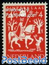 4+4c,St. Nicolas on horse, Stamp out of set