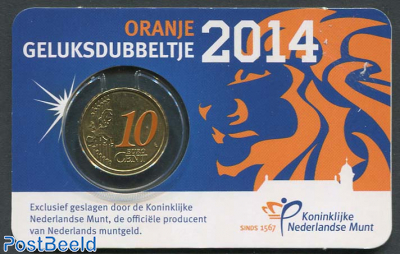 10 cent 2014 Geluksdubbeltje coincard