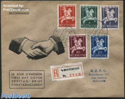 Child Welfare 5v, First Day Cover Zondervan