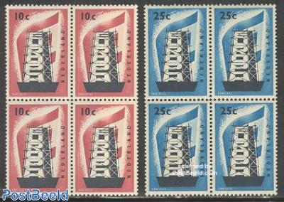 Europa CEPT 2v, Blocks of 4 [+]