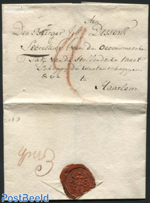 Letter from Enkhuizen to Haarlem