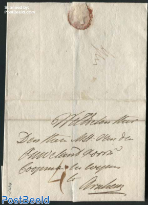 Letter from Grave to Arnhem (4s), 18 may 1805