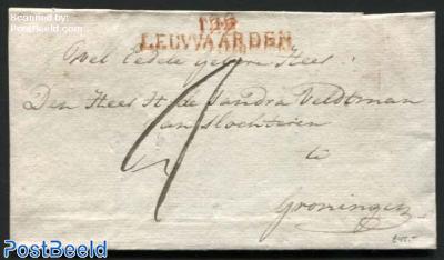 Letter from Leeuwarden to Groningen