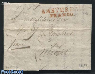 Folding letter from Amersfoort to Utrecht