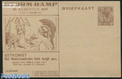 Postcard with private text, 7.5c, STORM-RAMP