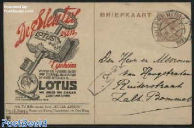 Postcard with private text, TIBO, De sleutel van Lotus Chocolade