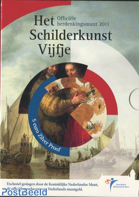 Proofset 5 Gulden Schilderkunst (Painting Art)