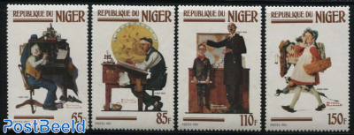 Norman Rockwell paintings 4v