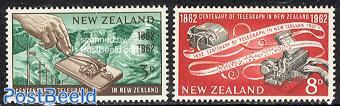 Telegraph centenary 2v
