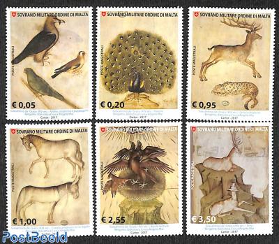 Animal paintings 6v