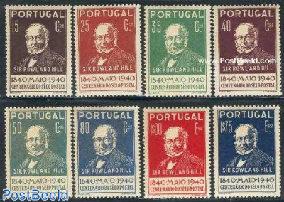 Stamp centenary 8v