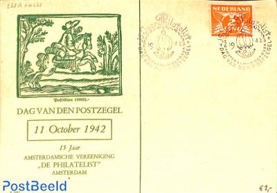 Stamp Day 1942, Amsterdam, Green card