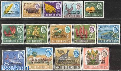 Definitives, overprinted on South.Rh. stamps 14v