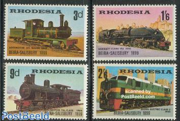 Beira-Salisbury railway 70th anniversary 4v