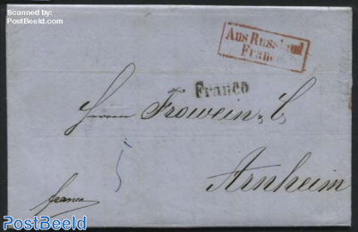 Letter from St. Petersburg to Arnheim (NL)