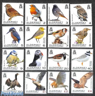 Definitives, birds 16v