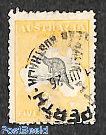 5sh, WM A-thin crown, used