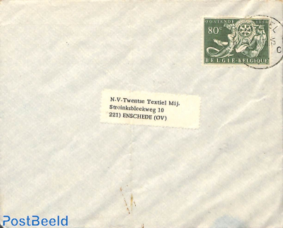 Rotary stamp on cover to Enschede