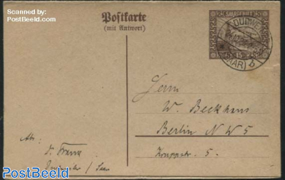 Reply Paid Postcard to Berlin