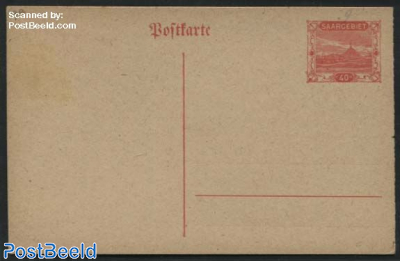 Postcard 40c, Orangered