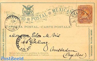 Postcard 3c to Amsterdam