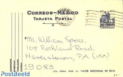 Postcard 20c, used