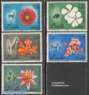 Flowers & animals 5v