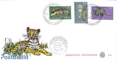 Paramaribo Zoo 3v, FDC without address