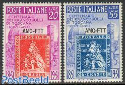Toscane stamp centenary 2v