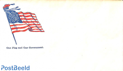 Civil war envelope,One flag and one government