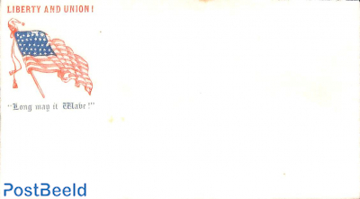 Civil war envelope, Liberty and Union