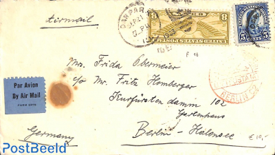 Airmail cover to Berlin